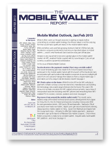Mobile Wallet Outlook, Jan/Feb 2013