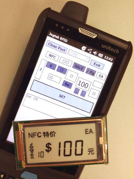 Jogtek's NFC-powered electronic shelf edge label