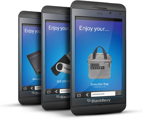 BlackBerry Z10 means prizes for UK mall shoppers