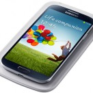 Samsung Galaxy S4 on a wireless charging pad