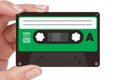 An NFC 'mixtape' from Sharetapes