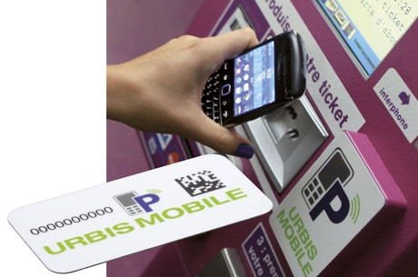 NFC stickers in use in Metz