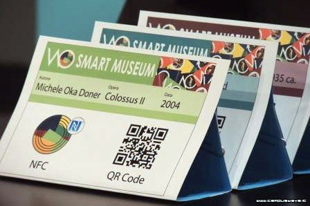 NFC tags for exhibits at the Wolfsoniana