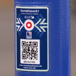 A Kontaktpunkt NFC tag