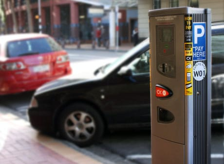 A Snapper-enabled pay and display parking station