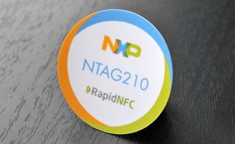 NXP NTAG210 NFC tag from RapidNFC