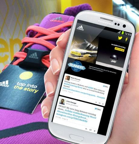 An Adidas NFC lace jewel