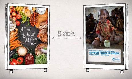 WFP's NFC poster campaign