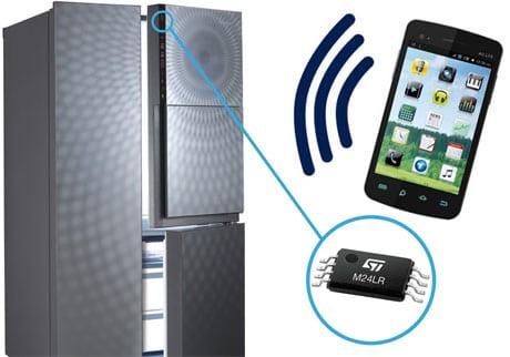 Daewoo fridge with NFC