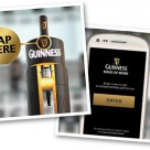 Drinkers can win a pint of Guinness by tapping the tap with an NFC phone