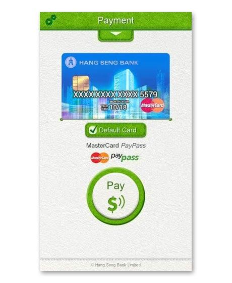 Hang Seng Bank's NFC mobile wallet app