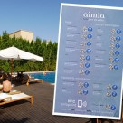 The Hotel Aimia is using an NFC smart poster to deliver information to guests