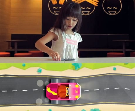 McDonald's uses NFC tags under tables to bring a racing game to life