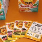 NFC cards used by Post Foods to promote a breakfast cereal