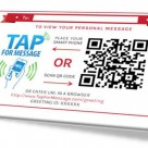 An NFC enabled gift card holder from Tap For Message