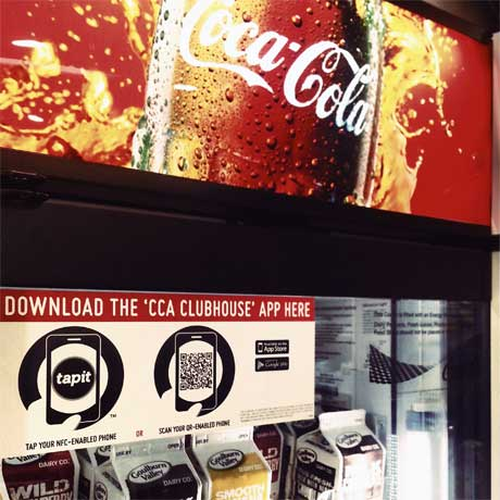 Coca-Cola tests NFC with Tapit
