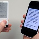 An NFC-WISP display echoes the content of an NFC smartphone's screen