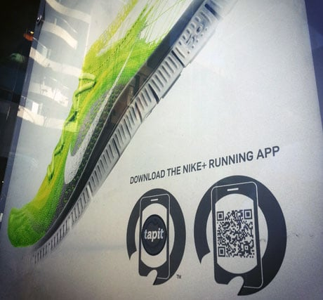 NFC posters offer Nike+ app downloads