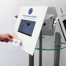 Dublin Business School's NFC kiosk