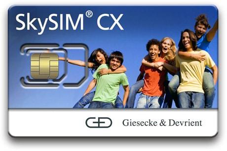 Giesecke & Devrient's SkySIM CX