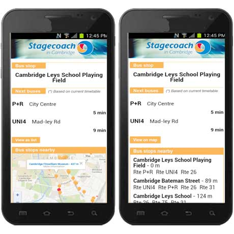Stagecoach Cambridge is using NFC to point travellers to bus timetable information