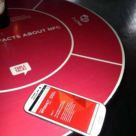 Tabletalk Media's NFC Tablewrap