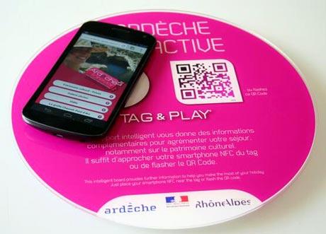 An Ardeche tourism NFC touchpoint
