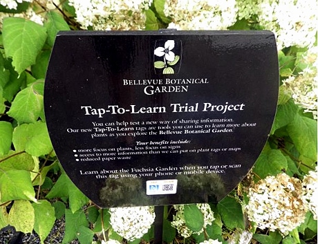 Bellvue Botanical Garden's NFC signs