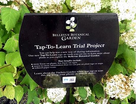 Bellvue Botanical Garden's NFC signs