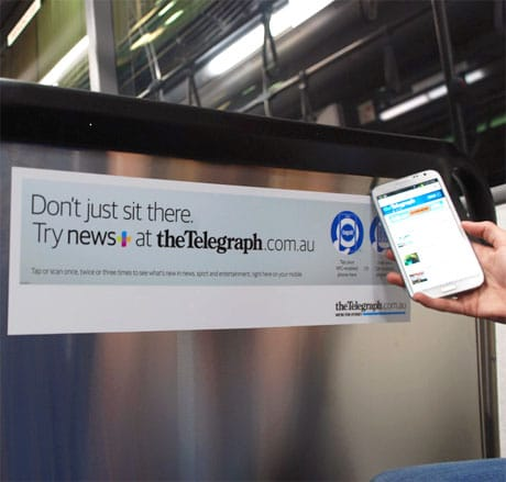 The Daily Telegraph's NFC campaign