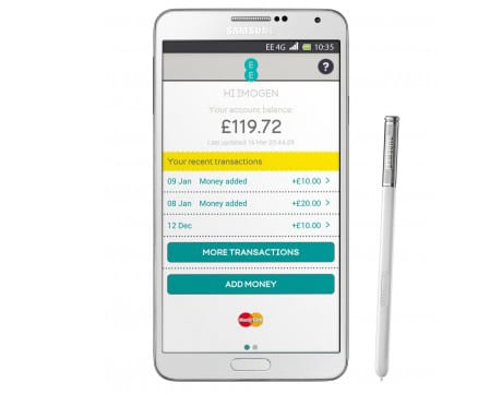 The Samsung Galaxy Note II can now run Cash On Tap