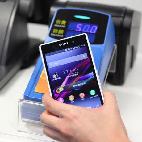 Octopus mobile payments can be made in retail stores