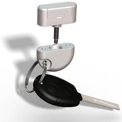 The Wave Dongle can be used as a keyfob