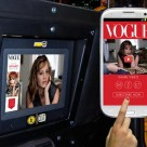 Vogue's NFC based campaign in New York taxis