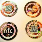 NFC tags and stickers used at Webster Hall