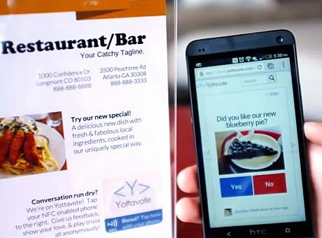 Yottavote uses NFC to solicit customer feedback