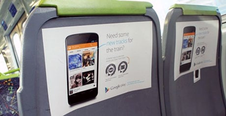 Google Play Music's seat-back ads