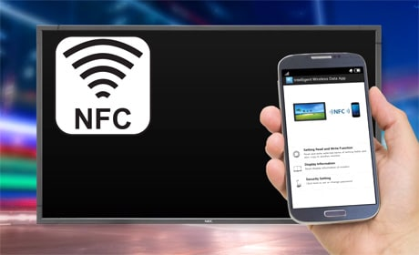 NEC's P-Series displays can be set up from an NFC phone