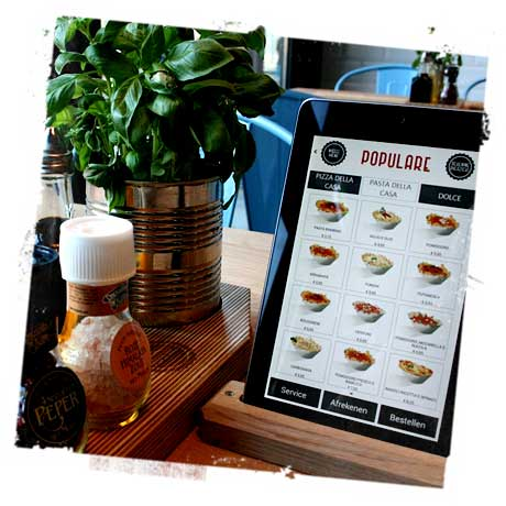 Popolare's tablet-based NFC digital menu