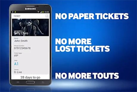 Samsung's Smart Tickets are NFC-based