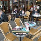 Cafe tables promote the Thor movie