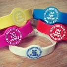Wooshping's NFC wristbands