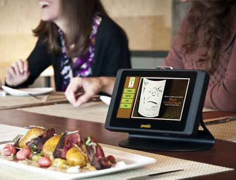 E la Carte's Presto tablet is NFC-enabled