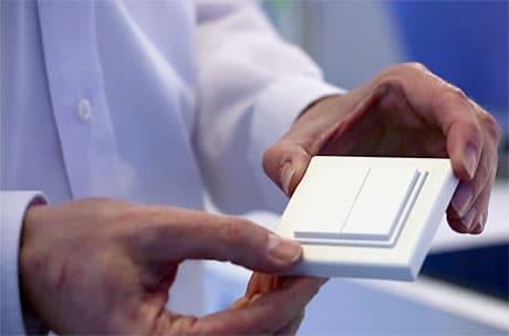 EnOcean's wireless NFC-enabled light switch