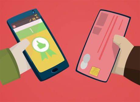 Nexus 5 smartphone with Ticktrack NFC ticket reader