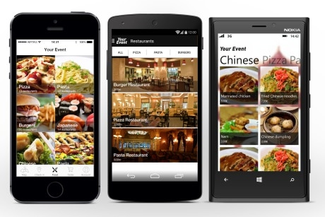 NFC handset with Airtag Airshop mobile commerce app