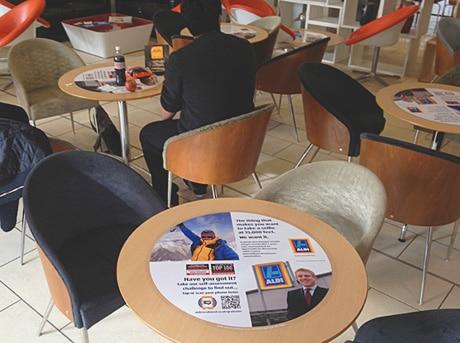 Aldi's NFC tablewrap
