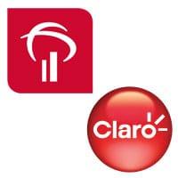 Bradesco and Clara logos