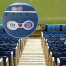 NFC stickers on the back of seats at Fratton Park