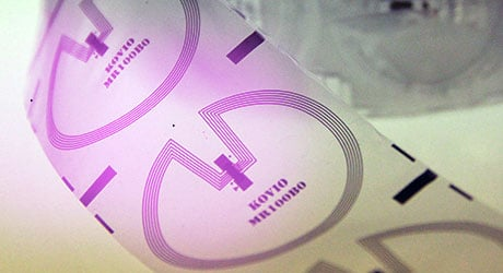 Printed NFC barcode